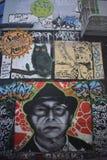 Настенные росписи переулка фанфаров очень красивые очень творческие, 56 Стоковое Изображение