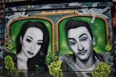 Настенные росписи переулка фанфаров очень красивые очень творческие, 57 Стоковые Изображения