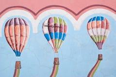 настенные росписи ballons воздуха Стоковое фото RF