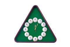 Настенные часы в стиле биллиардов Стоковое Изображение