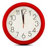 Настенные часы на белой предпосылке. 12 часов Стоковое Фото