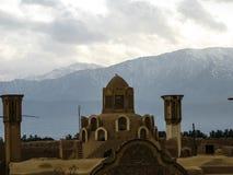 Настелите крышу стояк водяного охлаждения дома Borujerdi персиянки взгляда традиционный, Kashan Иран Стоковая Фотография