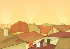 настилает крышу городок Стоковые Изображения RF