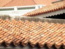 настилает крышу terracota Стоковые Изображения RF