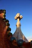 Настилите крышу Касы Battlo в Барселона architected Antoni Gaudì Стоковое фото RF