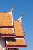 настилите крышу висок тайский Стоковое фото RF