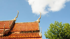 настилите крышу висок тайский Стоковое Изображение RF