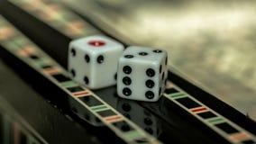 Настольная игра нард, косточек на доске Стоковая Фотография RF