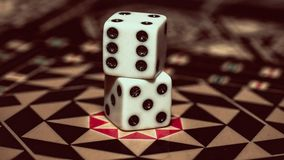 Настольная игра нард, косточек на доске Стоковые Изображения RF