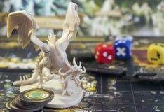 Настольная игра, роль играя игру, подземелья и драконы спуска, dnd Стоковая Фотография