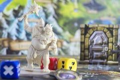 Настольная игра, роль играя игру, подземелья и драконы спуска, dnd Стоковая Фотография RF