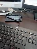 Настольный компьютер и клавиатура Стоковые Фотографии RF