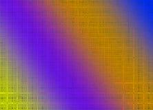 Настольный компьютер предпосылки стиля решетки желтого цвета, апельсина и пурпура отображает Стоковая Фотография