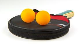 настольный теннис затвора случая шариков Стоковая Фотография RF