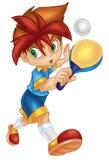 настольный теннис игрока Стоковые Фото