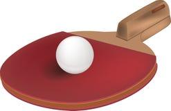 настольный теннис ракетки шарика иллюстрация штока