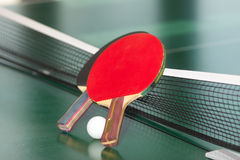 настольный теннис ракеток шарика Стоковое фото RF