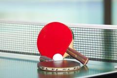 настольный теннис ракеток шарика Стоковые Фото