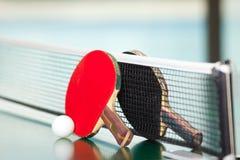 настольный теннис ракеток шарика Стоковое Изображение