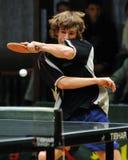настольный теннис действия Стоковая Фотография