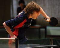 настольный теннис действия Стоковое Изображение RF