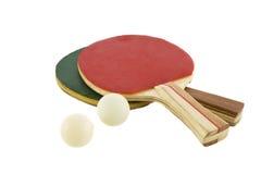 настольный теннис 2 ракетки шарика стоковые фотографии rf