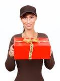 настоящие моменты почтальона почты подарков Стоковая Фотография RF