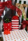 настоящие моменты подарков Стоковое фото RF