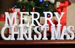 Настоящие моменты под рождеством дерева Стоковые Изображения RF