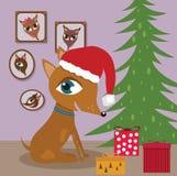 настоящие моменты собаки рождества Стоковое Фото