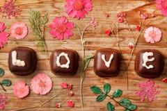 Настоящий момент Валентайн шоколада Стоковое фото RF