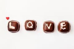 Настоящий момент Валентайн шоколада Стоковые Изображения