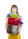 настоящий момент девушки платья коробок сексуальный Стоковые Изображения