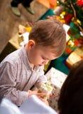 настоящий момент малыша рождества стоковая фотография