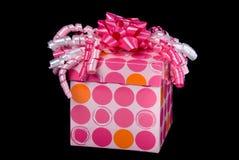 настоящий момент подарка розовый Стоковые Изображения RF