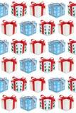 Настоящий момент подарочной коробки подарков рождества представляет предпосылку бесплатная иллюстрация