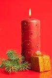 настоящий момент свечки коробки горящий малюсенький Стоковое Изображение