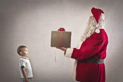 Настоящий момент Santa Claus Стоковые Фото