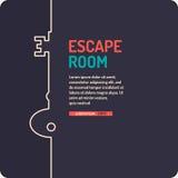 Настоящий плакат игры избежания и поисков комнаты Стоковые Изображения