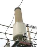 Настоящий трансформатор подстанция высокого напряжения 110 kV Стоковые Фото