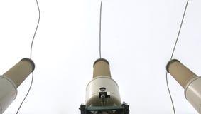Настоящий трансформатор подстанция высокого напряжения 110 kV Стоковые Изображения