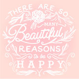 Настолько много красивых причин быть счастливо бесплатная иллюстрация