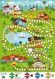 Настольная игра (город шаржа) бесплатная иллюстрация