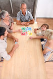 Настольная игра семьи Стоковое Изображение RF
