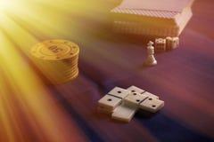 Настольные игры Стоковая Фотография