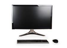 Настольный компьютер и клавиатура и мышь стоковое фото