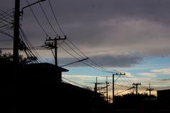 Настольный компьютер неба в городе Стоковое фото RF