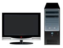 Настольный компьютер иллюстрация вектора