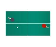 Настольный теннис изолированный на белой предпосылке также вектор иллюстрации притяжки corel Стоковое фото RF