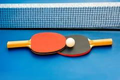 настольный теннис оборудования стоковое изображение